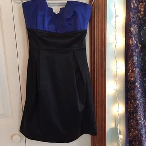 Fancy Elegant Strapless Mini Dress